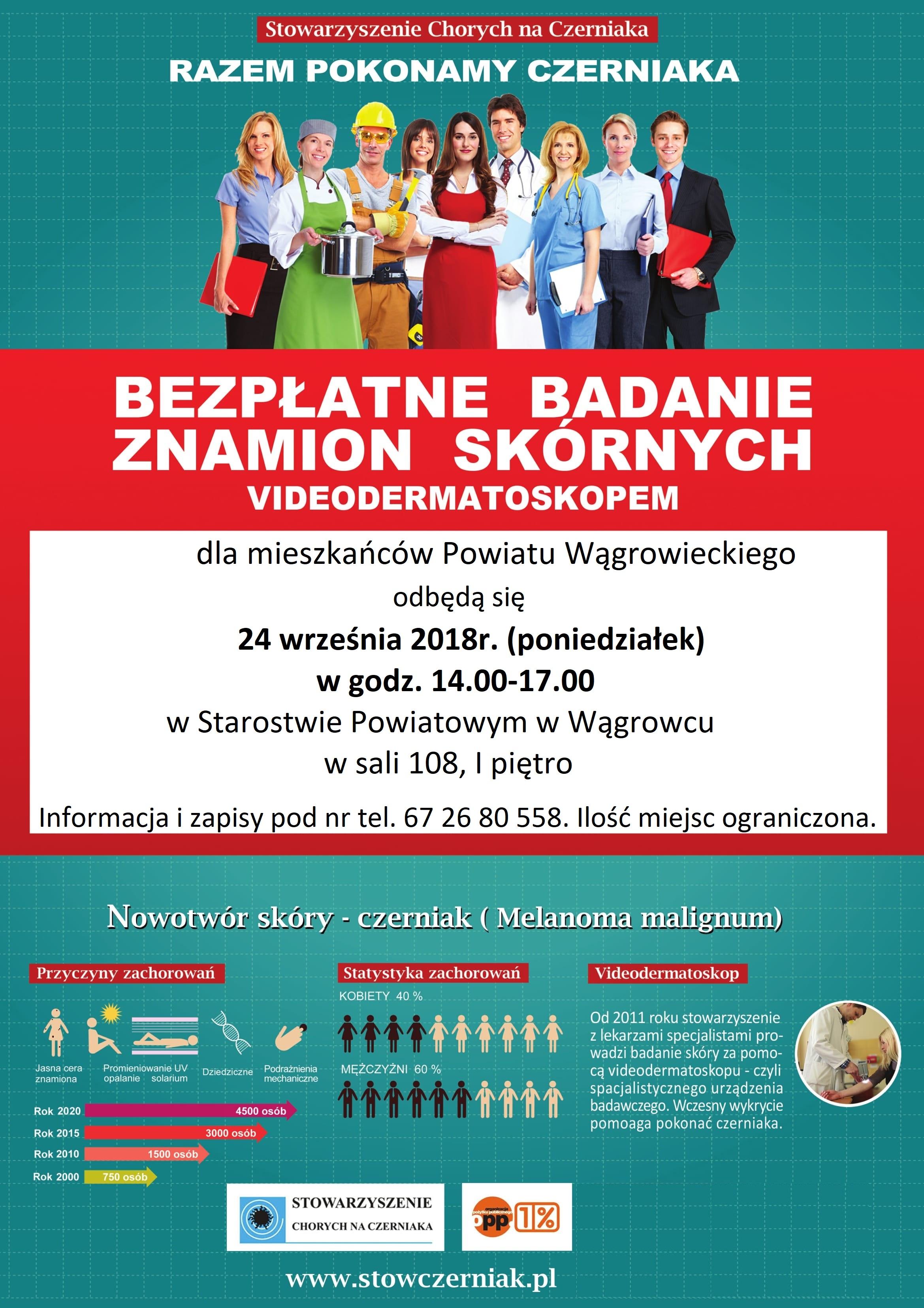Plakat Czerniak Stowarzyszenie Chorych Na Czerniaka